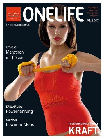 Power in Motion Marathon im Focus Powernahrung - Onelifemag