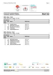 GSSE Athletics – Luxembourg 2013