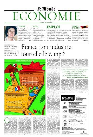 Mardi 23 septembre 2003 - Le Monde