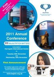 2011 Annual Conference Free - BAPEN