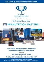 MALNUTRITION MATTERS - Bapen