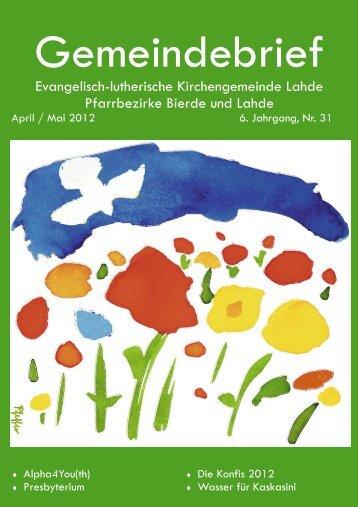 April - Mai 2012 Druck4.10.pub - Ev.-luth. Kirchengemeinde Lahde