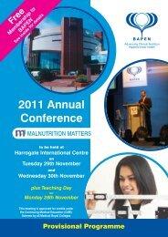 2011 Annual Conference - BAPEN