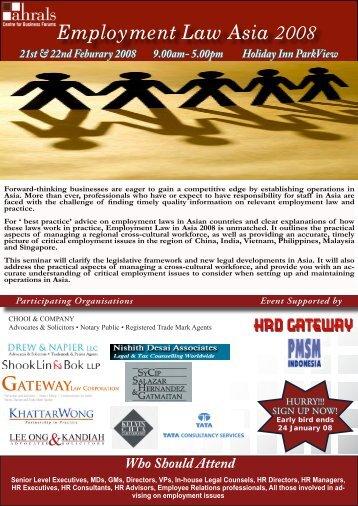 Employment Law Asia 2008 - Gateway Law Corporation