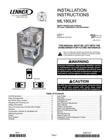 tua garage heater installation manual lennox rh yumpu com Amana Gas Furnace Goodman Gas Furnace
