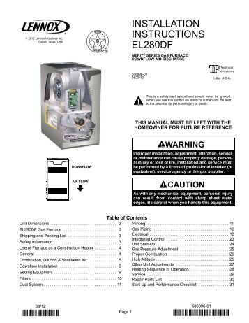 Lennox G14 Installation Manual