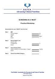 Practical Workshop (PDF) - BAPEN
