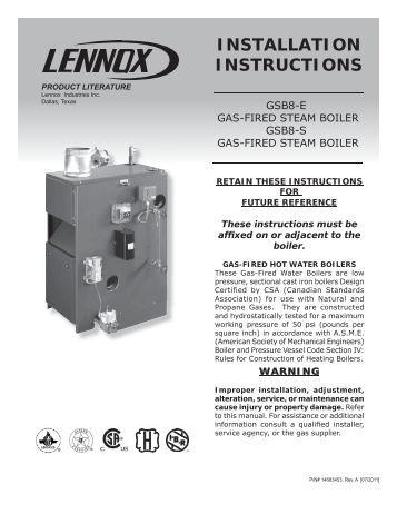 Lennox Harmony 3 Installation manual