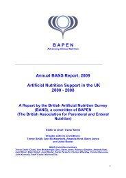 Annual BANS report 2009 (PDF) - BAPEN