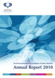 Annual Report 2010 - BAPEN