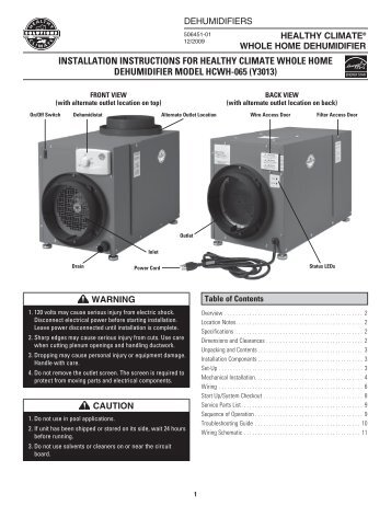 healthy climate hrv ventilation system manual