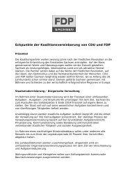 Eckpunkte der Koalitionsvereinbarung von CDU und ... - FDP Sachsen
