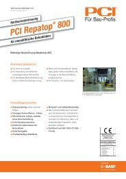 Hartkorneinstreuung PCI Repatop ® 800 - Pci-Augsburg Gmbh