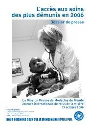 L'accès aux soins des plus démunis en 2006 - PMB