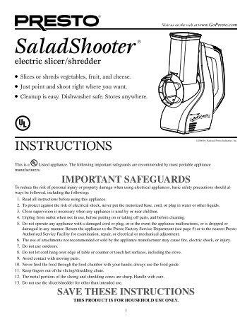 Electric slicershredder home depot electric slicershredder presto publicscrutiny Gallery