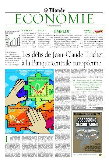 Mardi 28 octobre 2003 - Le Monde