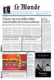 Climat:lesnouvellescibles industriellesdelataxecarbone - Le Monde