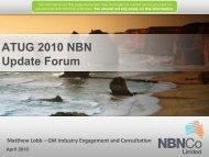 ATUG 2010 NBN Update Forum - NBN Co