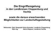 2. Die Eingriffsregelung in den Landkreisen Cloppenburg und ...