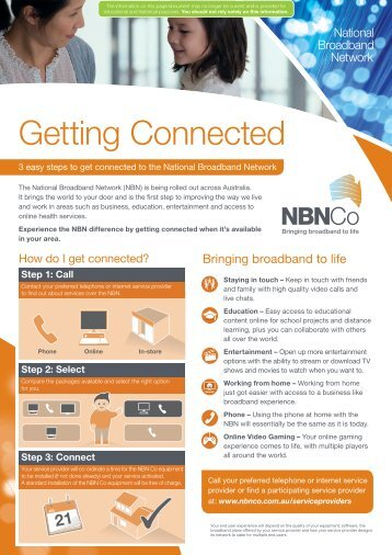 NBN Co Getting Connected for Fibre