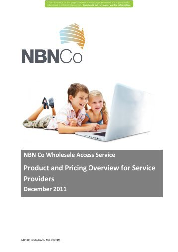 NBN Co Wholesale Access Service Product and Pricing Overview ...