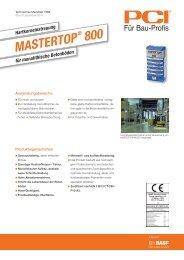 Hartkorneinstreuung MASTERTOP ® 800 - Pci-Augsburg Gmbh