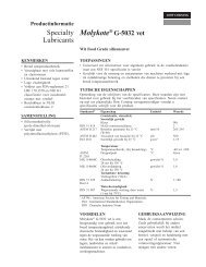 Molykote G-5032 Technische beschrijving (pdf) - Mavom