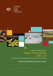Target Area Grants 2013–14 - Caring for our Country