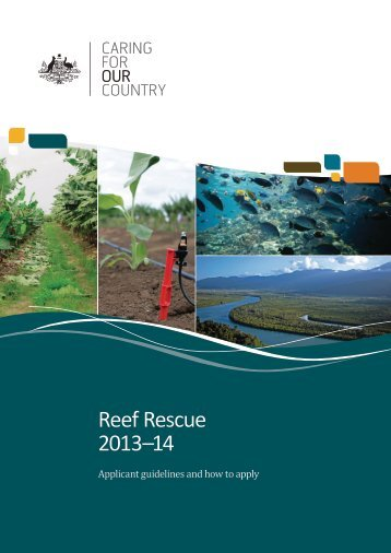 Reef Rescue Applicant Guidelines - Caring for our Country