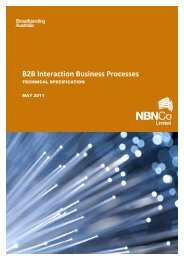 B2B Interaction Business Processes Technical Specification - NBN Co