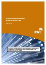 B2B Product Definition - NBN Co