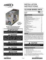 ELO183B Oil Furnace Installation Manual - Lennox