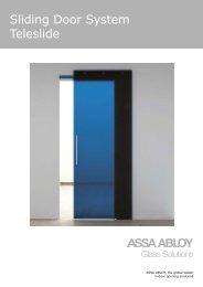 Sliding Door System Teleslide - ASSA ABLOY Glass