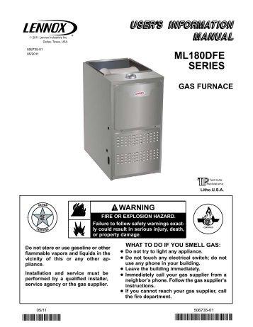 el195uhe gas furnace homeowners manual lennox rh yumpu com Evaporator Coil Natural Gas Furnaces Wholesale