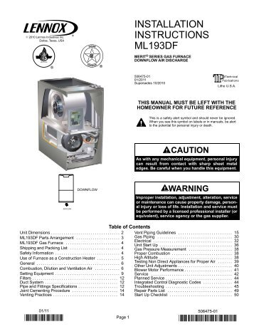 lennox g61 installation manual various owner manual guide