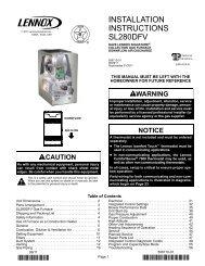 SL280DFV Gas Furnace Installation Manual - Lennox