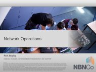 Operations Breakout Session - NBN Co