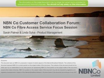 NBN Co Fibre Access Service Focus Session