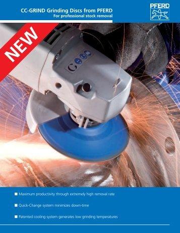 CC-GRIND Grinding Discs from PFERD