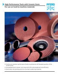 High-Performance Tools with Ceramic Grain For use on hard ... - Pferd