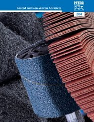Coated and Non-Woven Abrasives - Pferd