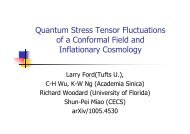 Quantum Stress Tensor Fluctuations of a Conformal Field and ...