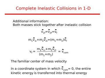 an experiment observing the conservation of momentum in inelastic collisions