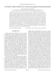 Universality of a family of random matrix ensembles - Department of ...
