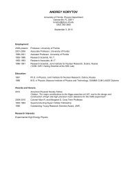 a more detailed CV in pdf format - Department of Physics - University ...