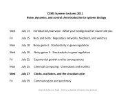 Clocks, oscillators, and the circadian cycle