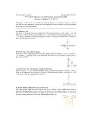 PHY 2048: Physics 2 with Calculus, Summer C 2010 Review ...