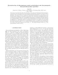 Reconstruction of inhomogeneous metric perturbations and ...