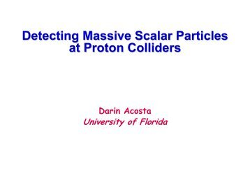Search for Massive Scalar Particles at Proton Colliders