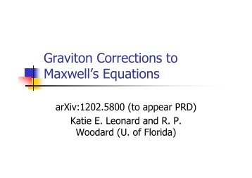 Graviton Corrections to Maxwell's Equations